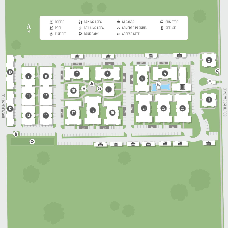 Remington Site Map