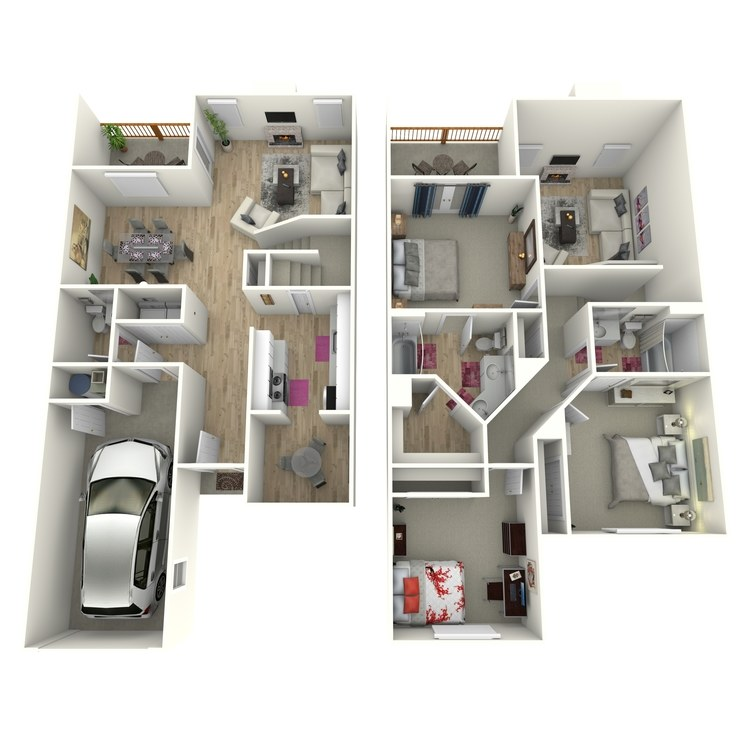 Floor plan image of The Arnold (Townhome)