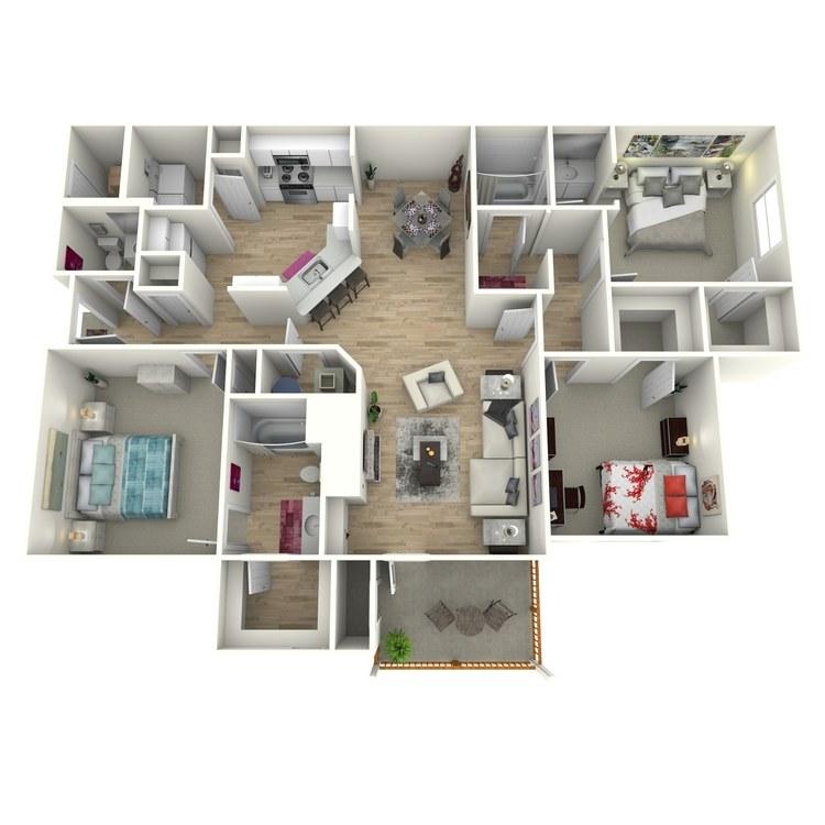 Floor plan image of The Terrell