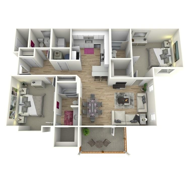 Floor plan image of The Barnes