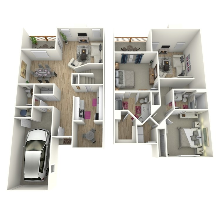 Floor plan image of The Autry (Townhome)