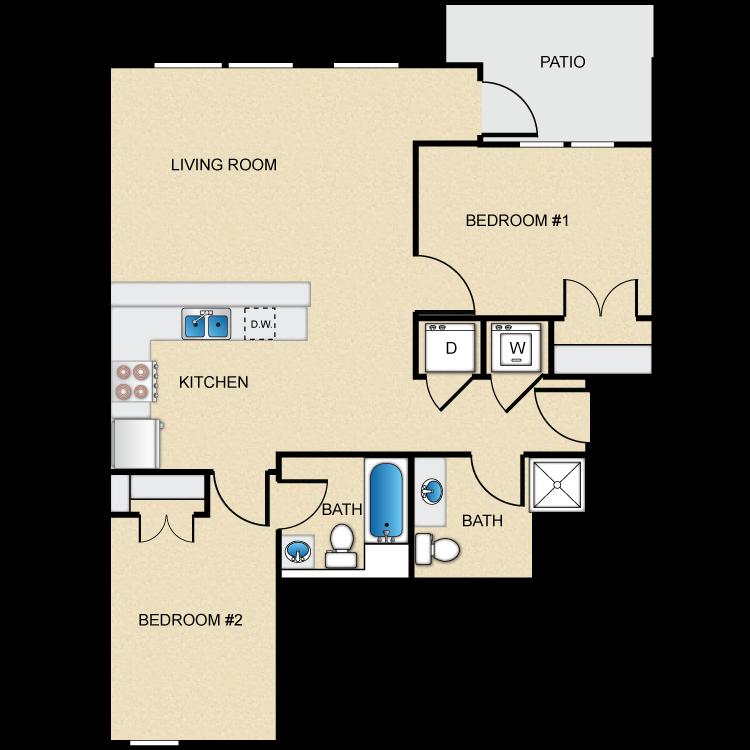 Floor plan image of Type C-1