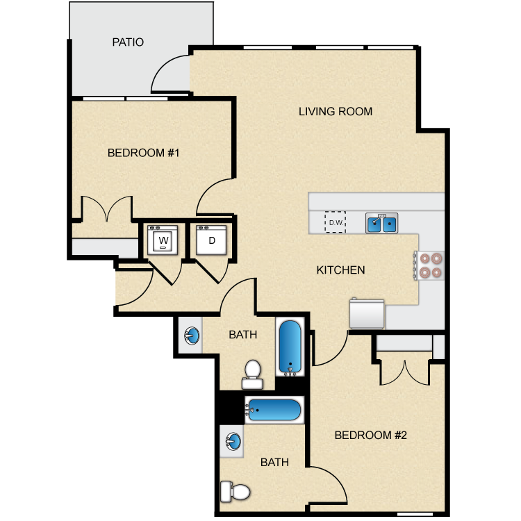 Floor plan image of Type D-1