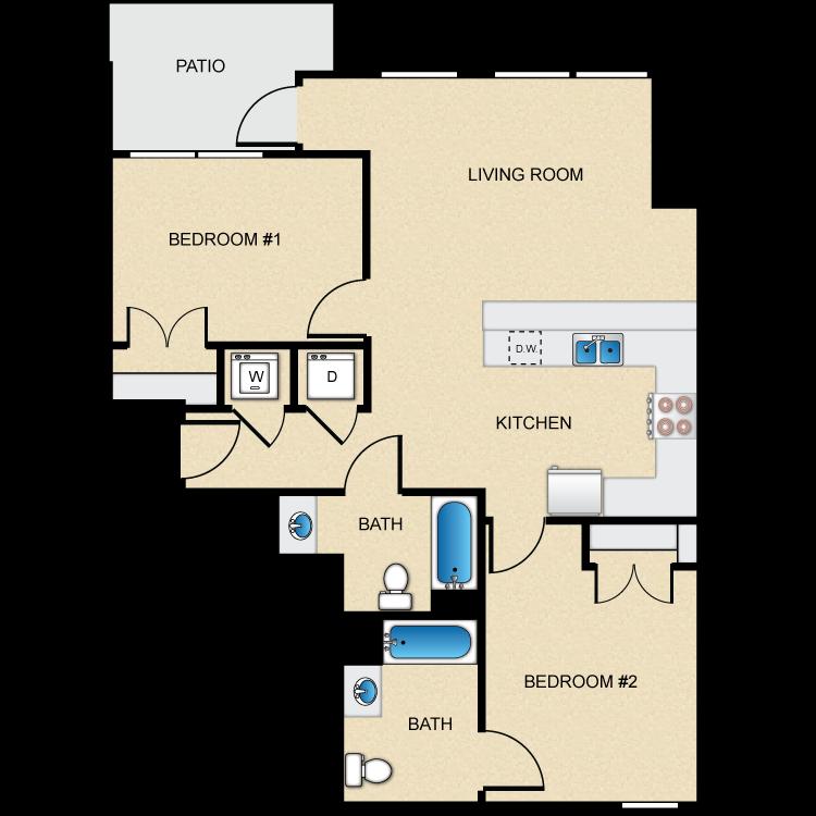 Floor plan image of Type D-2