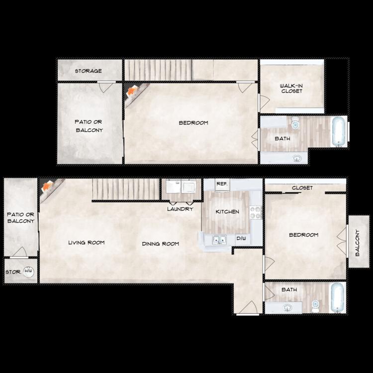 OAK floor plan image