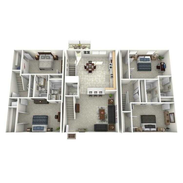 Floor plan image of 4 Bed 4.5 Bath