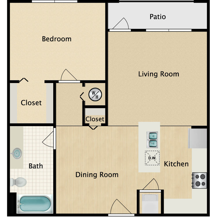 The Siesta floor plan image