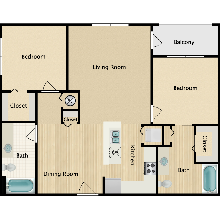The Crescent floor plan image