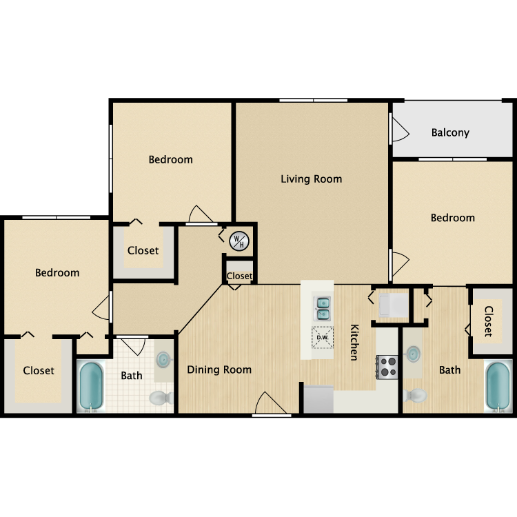 The Anna Maria floor plan image