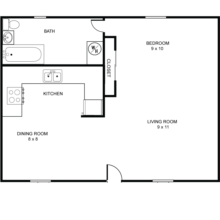 Floor plan image of Efficiency