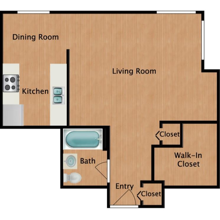 Floor plan image of Coho Studio