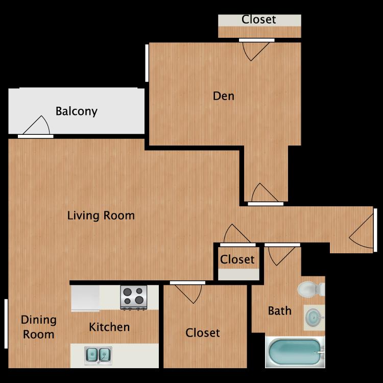 Floor plan image of Chinook Studio