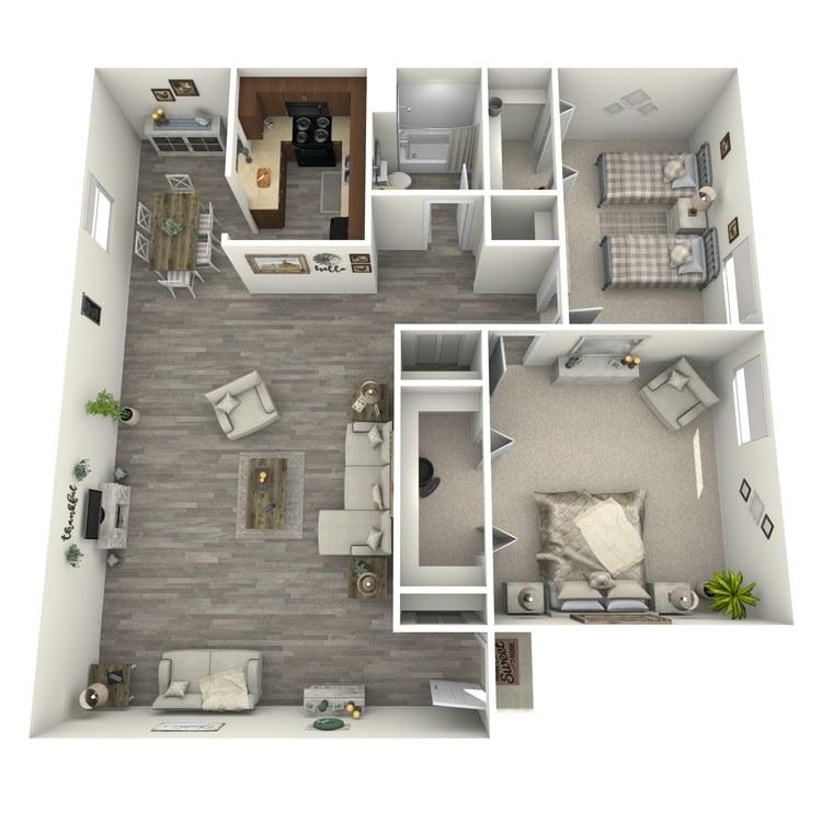 Floor plan image of The Cambridge Garden Level
