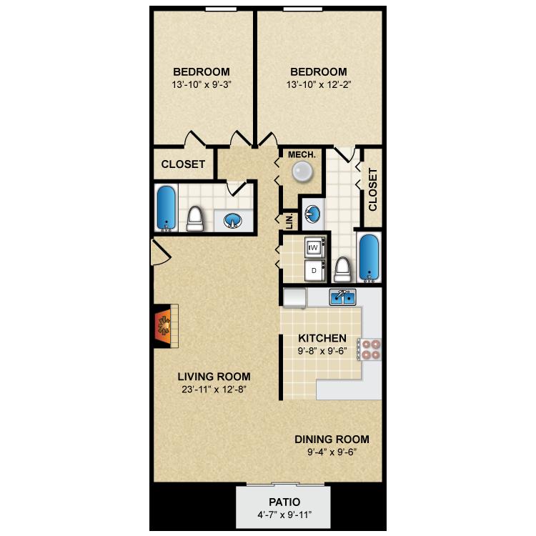 Floor plan image of Hampton