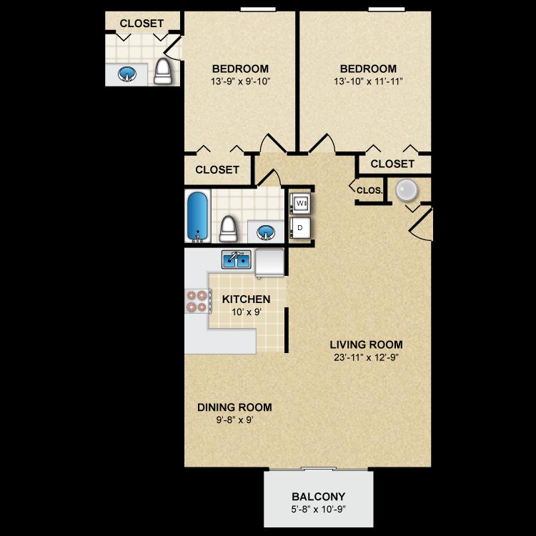 Floor plan image of Norfolk B