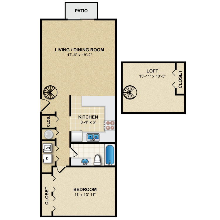 Floor plan image of Oxford with Loft
