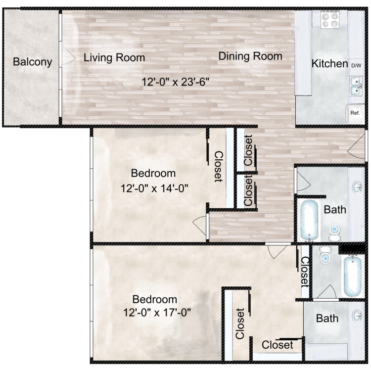 Floor plan image of The Lincoln