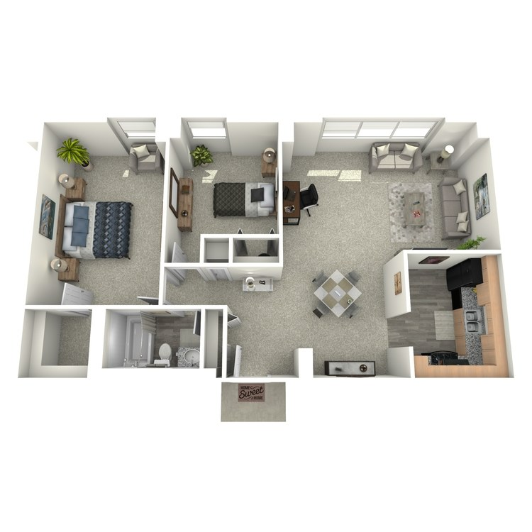 Floor plan image of 2x1
