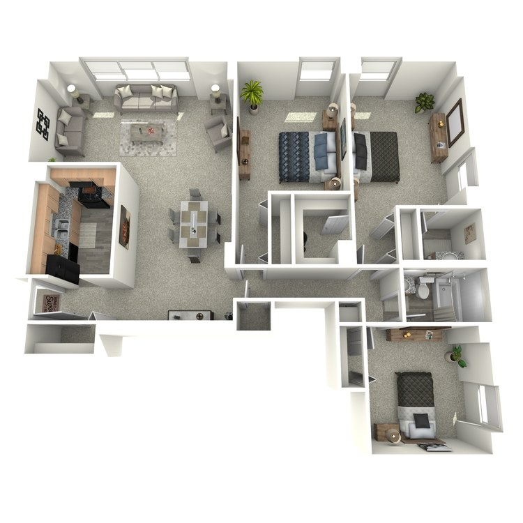 Floor plan image of 3x1.5