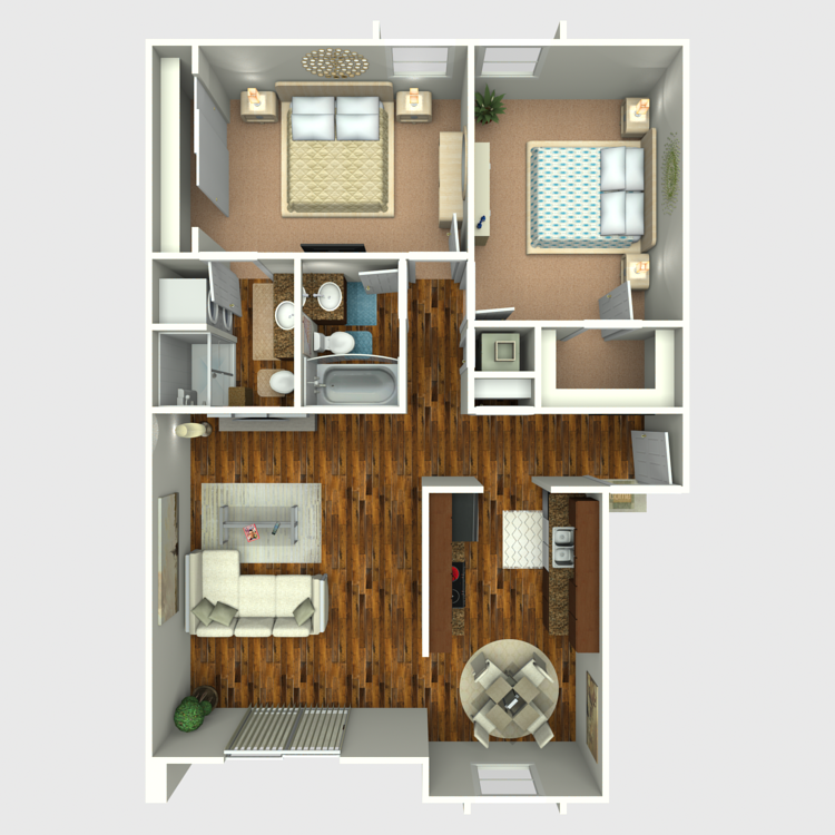 Floor plan image of Remodeled 2x2
