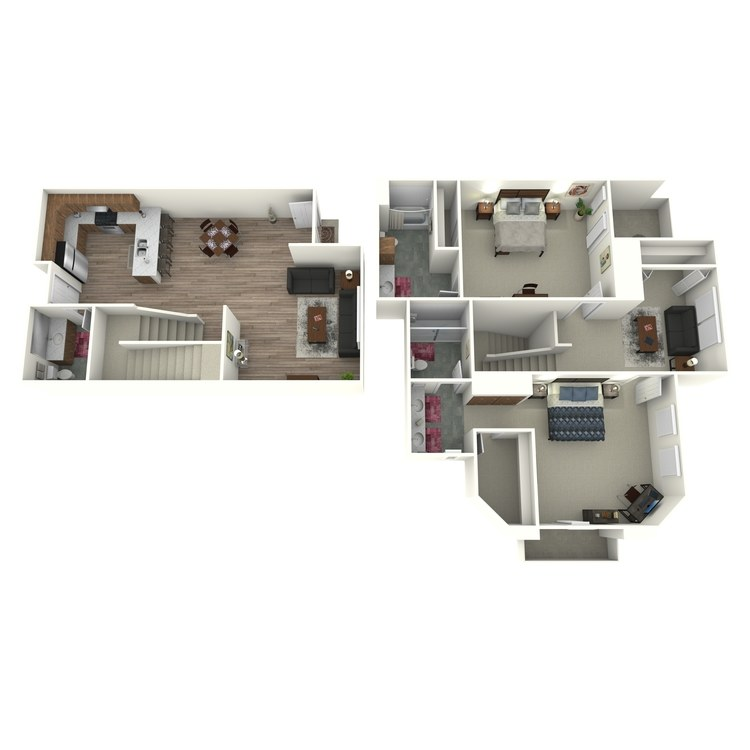 Floor plan image of Model P