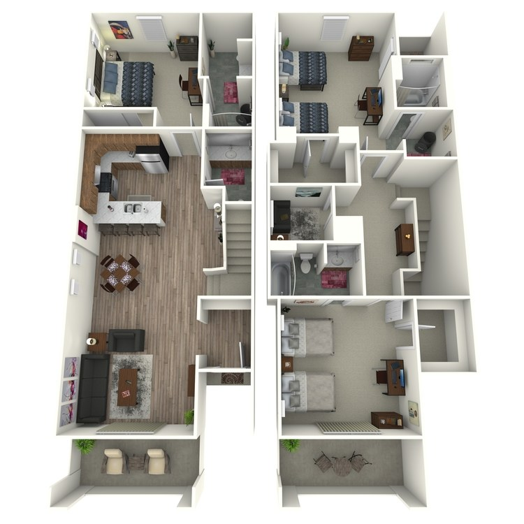 Floor plan image of Model H