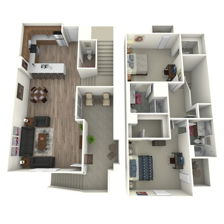 Floor plan image of Model E