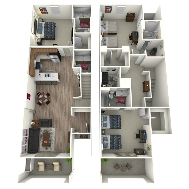 Floor plan image of Model J