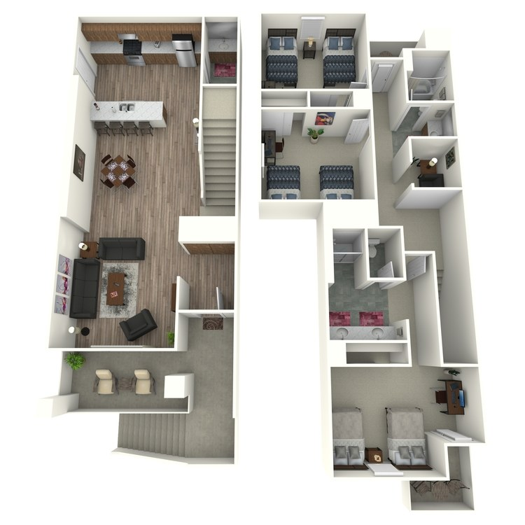 Floor plan image of Model C