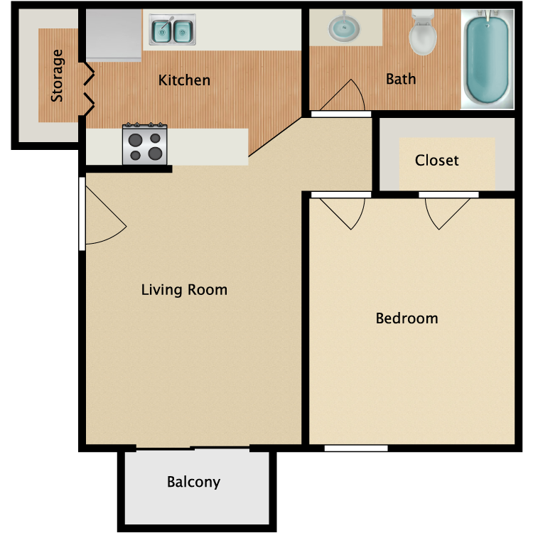 Floor plan image of Jackson
