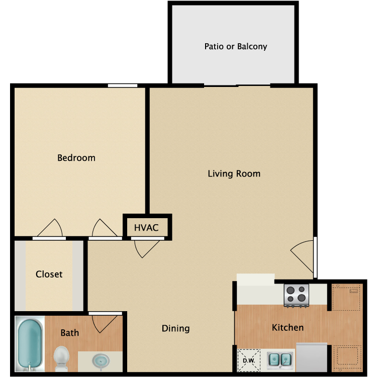 Floor plan image of Raleigh