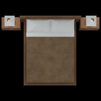 Single Bed Brown Comforter Master Set