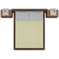 Single Bed Creme Quilted Master Set