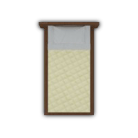 Creme Quilted Single Bed
